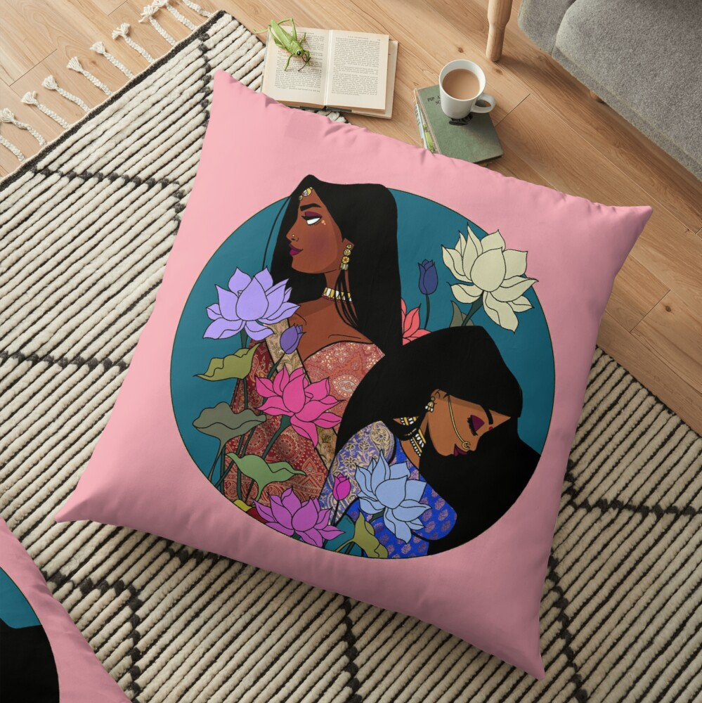 Vanakkam Floor Pillow