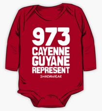 973 Cayenne, Guyane. Represent One Piece - Long Sleeve