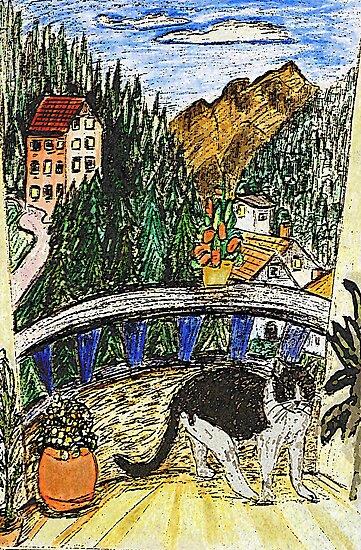 A Cats Balcony by Monica Engeler