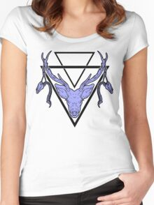 Triangle Deer H 2 Women's Fitted Scoop T-Shirt
