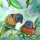 Pair of Tropical Birds by mleboeuf