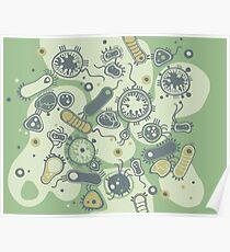 Eukaryote (grün) Poster