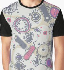 Eukaryote (rosa/lila) Grafik T-Shirt
