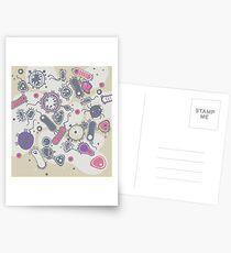 Eukaryote (rosa/lila) Postkarten