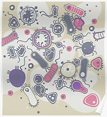Eukaryote (rosa/lila) Poster