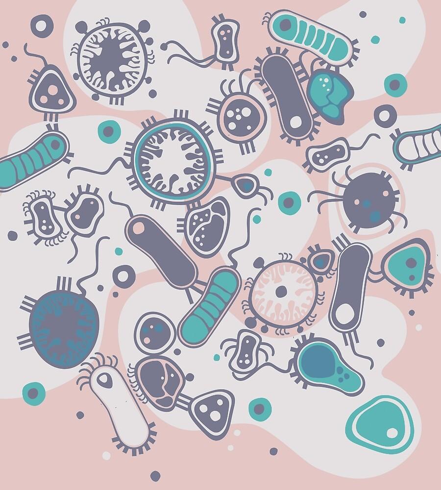 Eukaryote (rosa/türkis) von Daniela  Illing