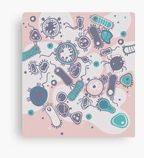 Eukaryote (rosa/türkis) Leinwanddruck