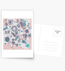 Eukaryote (rosa/türkis) Postkarten