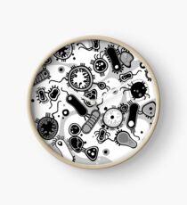 Eukaryote (schwarz/weiß) Uhr