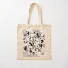 Eukaryote (schwarz/weiß) Baumwolltasche