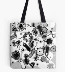 Eukaryote (schwarz/weiß) Tote Bag