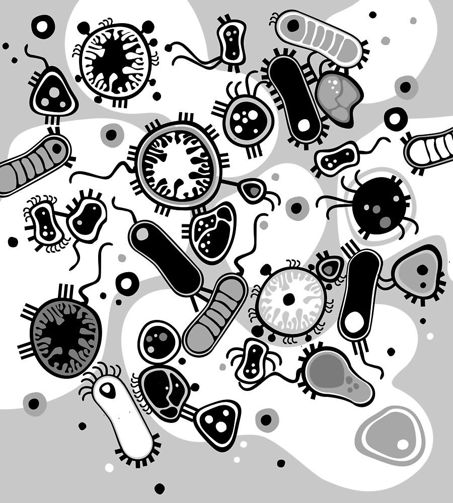 Eukaryote (schwarz/weiß) von Daniela  Illing