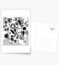 Eukaryote (schwarz/weiß) Postkarten