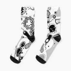 Eukaryote (schwarz/weiß) Socken