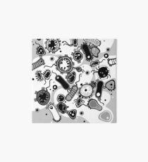 Eukaryote (schwarz/weiß) Galeriedruck