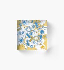 Eukaryote (gelb+ blau) Acrylblock