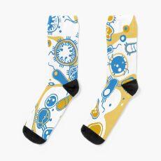 Eukaryote (gelb+ blau) Socken