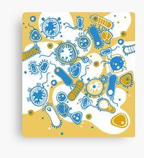 Eukaryote (gelb+ blau) Leinwanddruck