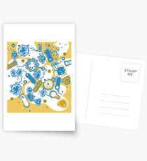 Eukaryote (gelb+ blau) Postkarten