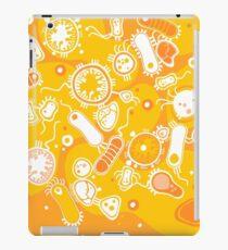 Eukaryote (weiß + gelb) iPad-Hülle & Klebefolie