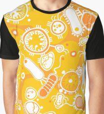 Eukaryote (weiß + gelb) Grafik T-Shirt