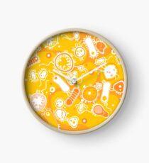Eukaryote (weiß + gelb) Uhr