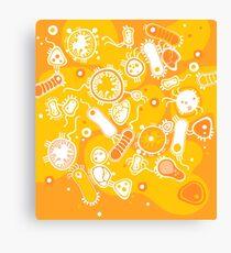Eukaryote (weiß + gelb) Leinwanddruck