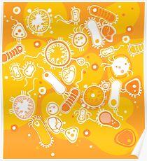 Eukaryote (weiß + gelb) Poster
