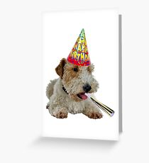 Wire Fox Terrier Birthday Greeting Card