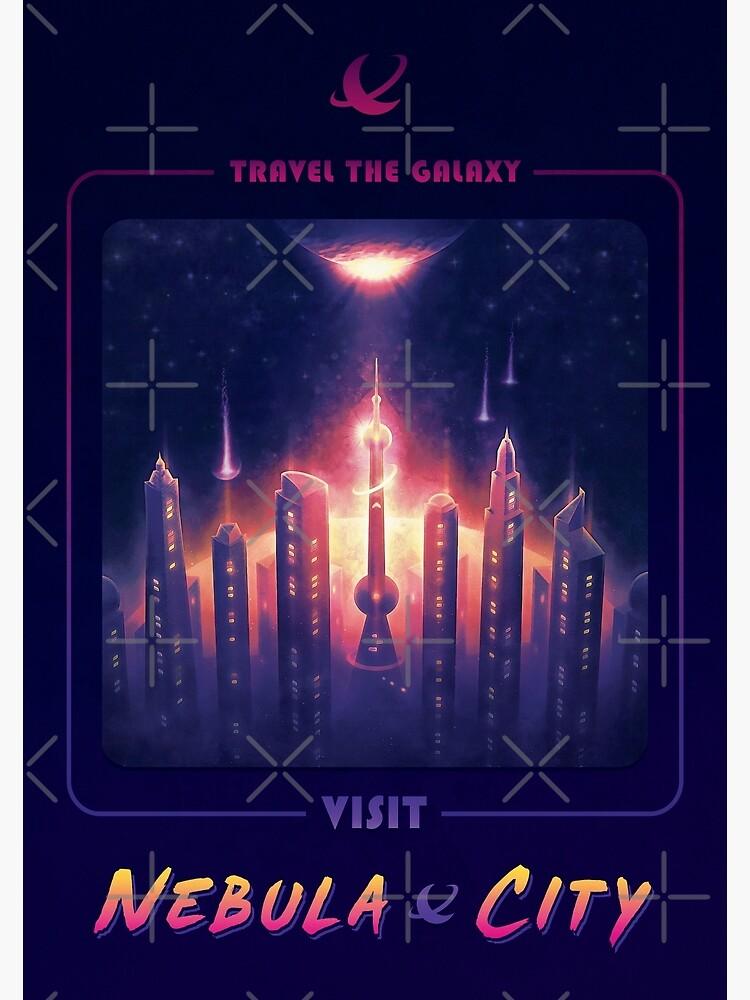 Nebula City Poster by BethsdaleArt