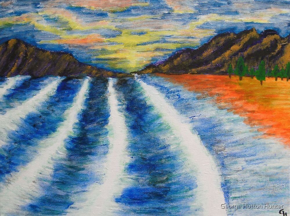 Waves at Sunset by George Hunter