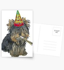 Yorkshire Terrier Birthday Postcards