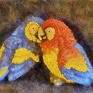 Parrots by Linda Miller Gesualdo