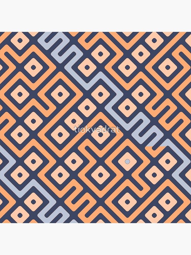 Maze Abstract Pattern - Cream / Grey by tiokvadrat