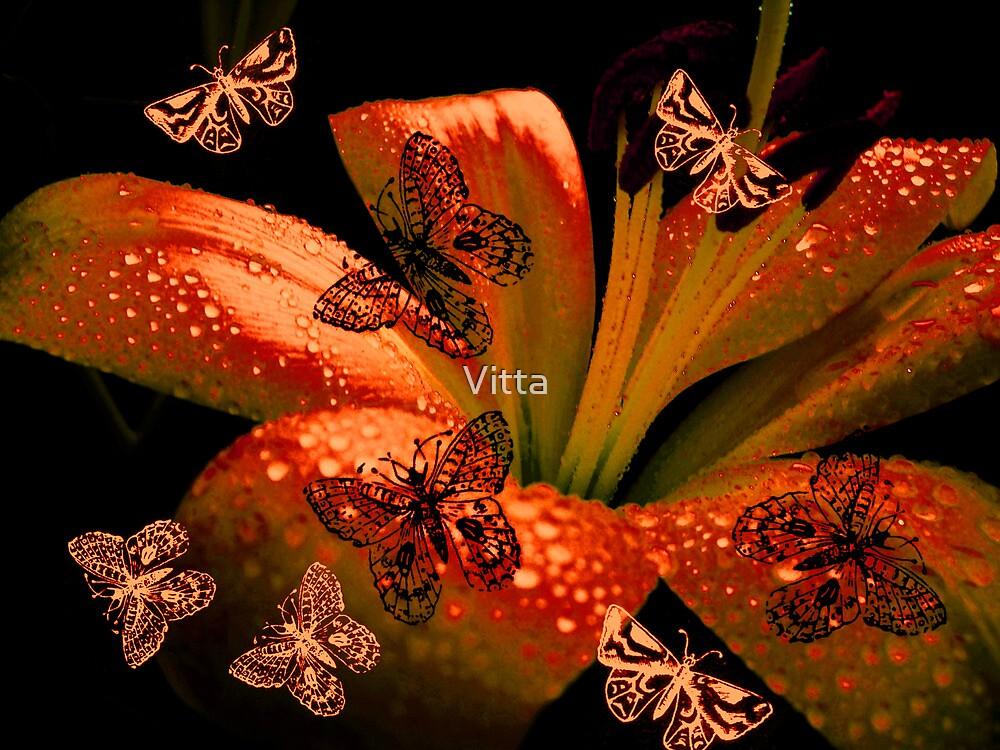 Butterflies  & Lily. by Vitta