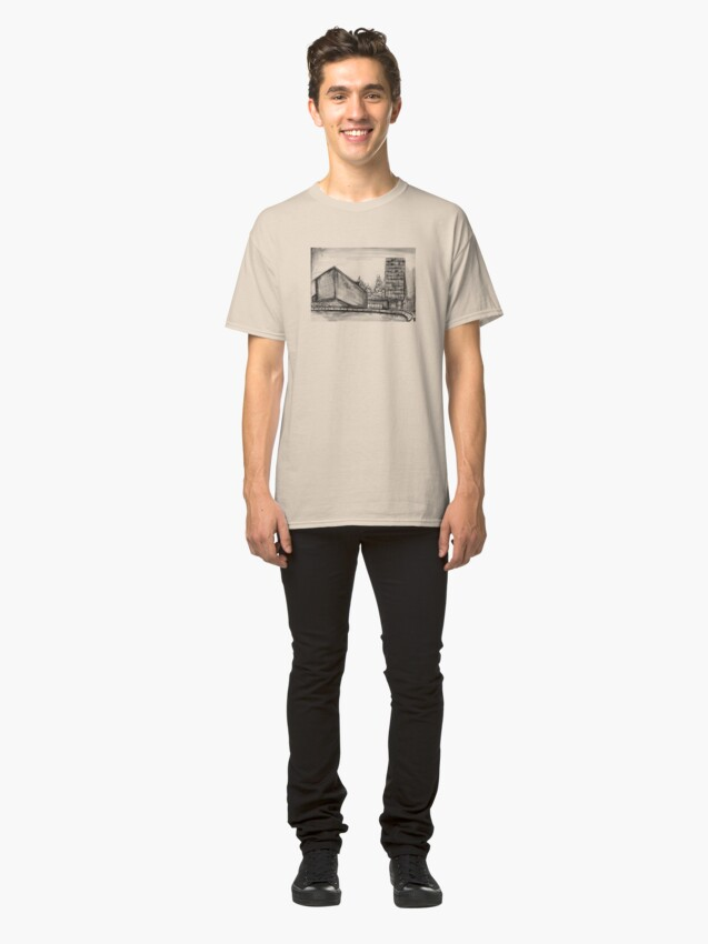 Alternate view of Charcoal sketch - Liverpool Classic T-Shirt
