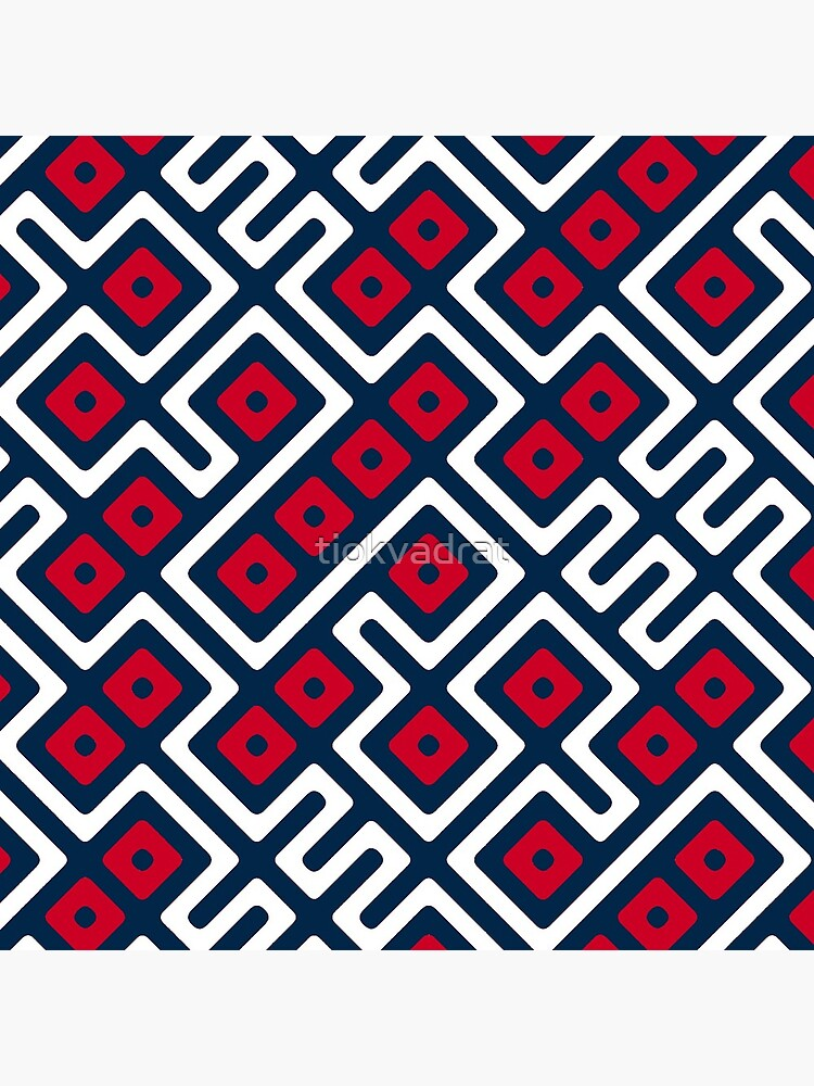 Maze Abstract Pattern - Blue / Red by tiokvadrat