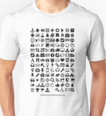 Font Awesome Black on White T-Shirt