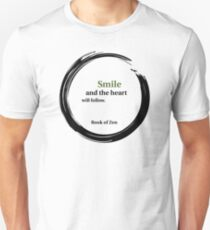 Positive Attitude Smile Quote Unisex T-Shirt