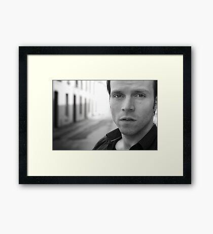 Tadhg of Exit Pursued By A Bear Framed Print