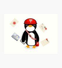 Penguin Postmaster Japan Art Print