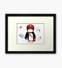 Penguin Postmaster Japan Framed Print