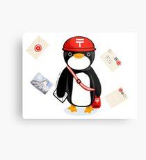 Penguin Postmaster Japan Metal Print