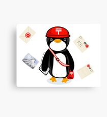 Penguin Postmaster Japan Canvas Print