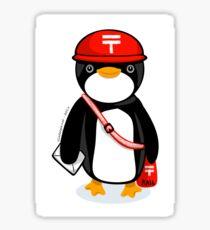 Penguin Postmaster Japan Glossy Sticker