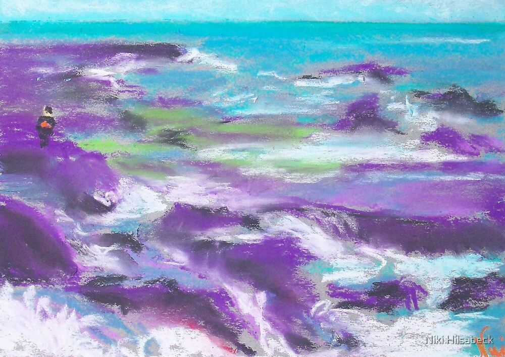 Keep Off the Rocks (pastel) by Niki Hilsabeck