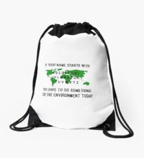 Environment-friendly funny design! Drawstring Bag