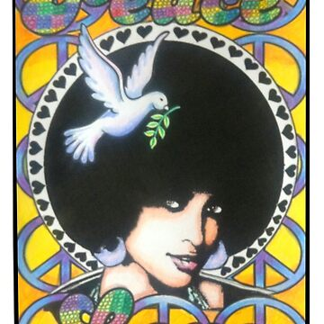 Peace and Love poster by MarinaC41