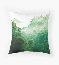 Bali Rainforest - Nature Landscape Throw Pillow