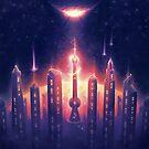 Nebula City by BethsdaleArt